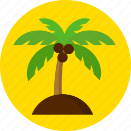 coconut, island, summer, swimming icon