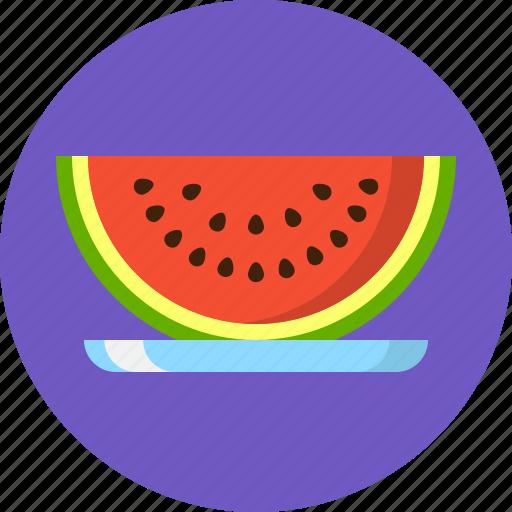 fruit, hot summer, summer, swim, swimming, water melon icon