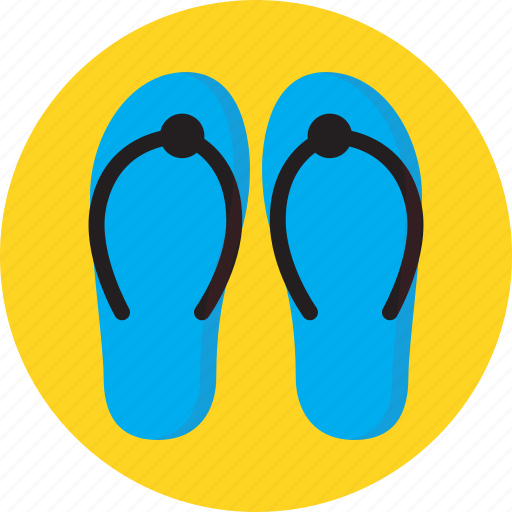 sand, sea, slippers, summer, swimming icon