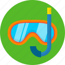 glasses swim, mask, sea, snorkelling, summer, swimming icon
