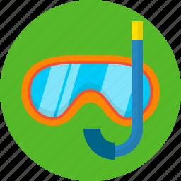 glasses swim, mask, sea, snorkelling, summer, swimming icon