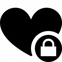 bookmark, favorites, heart, like, lock, love icon