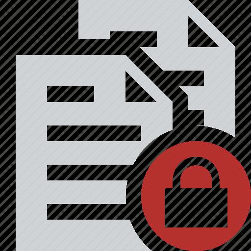 copy, documents, duplicate, files, lock, paste icon
