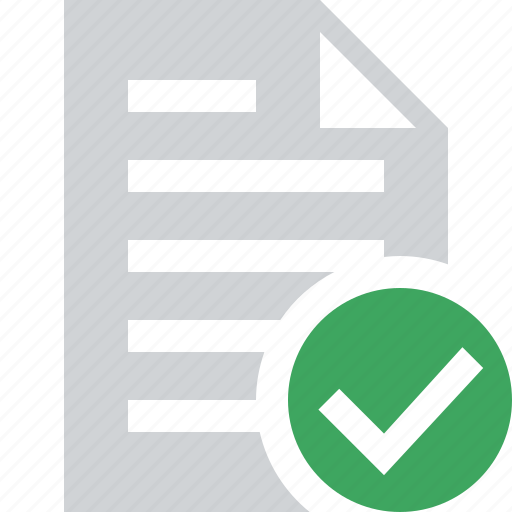 document, file, ok, paper, text icon