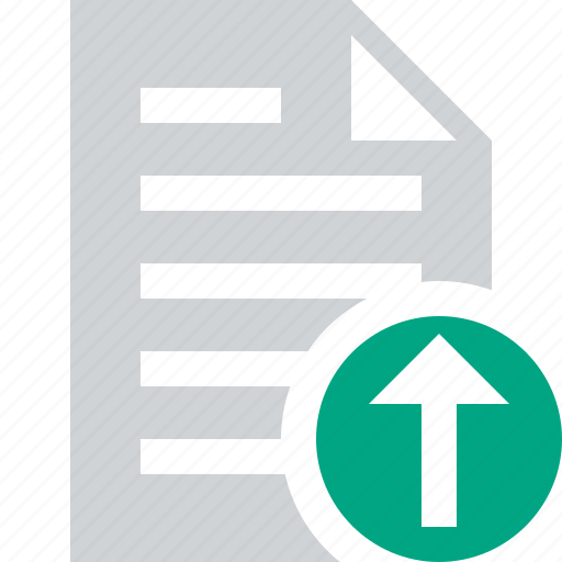document, file, paper, text, upload icon