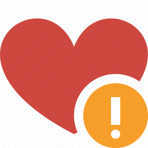 bookmark, favorites, heart, like, love, warning icon