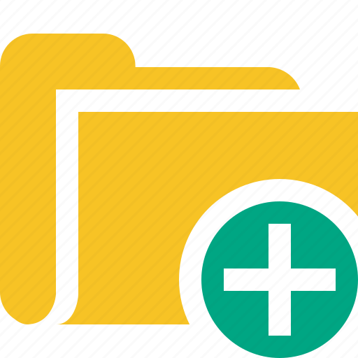 add, category, file, folder, open icon