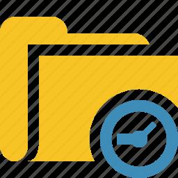 category, clock, file, folder, open icon