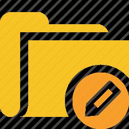 category, edit, file, folder, open icon