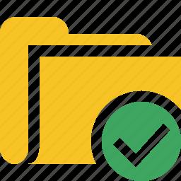 category, file, folder, ok, open icon