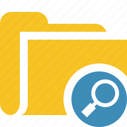 category, file, folder, open, search icon