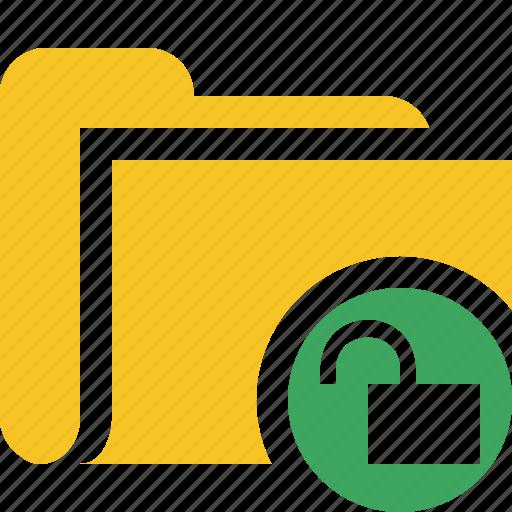 category, file, folder, open, unlock icon