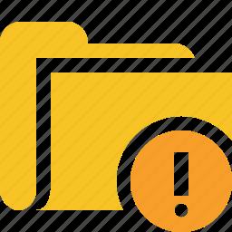 category, file, folder, open, warning icon