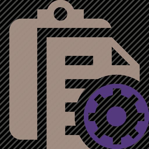 clipboard, copy, paste, settings, task icon