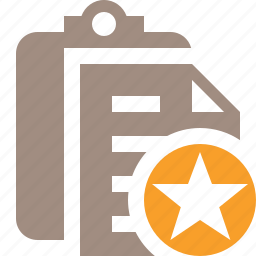 clipboard, copy, paste, star, task icon