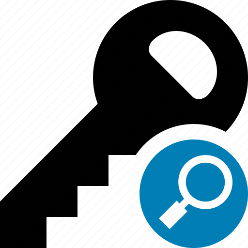 key, lock, password, protect, search, secure, security icon
