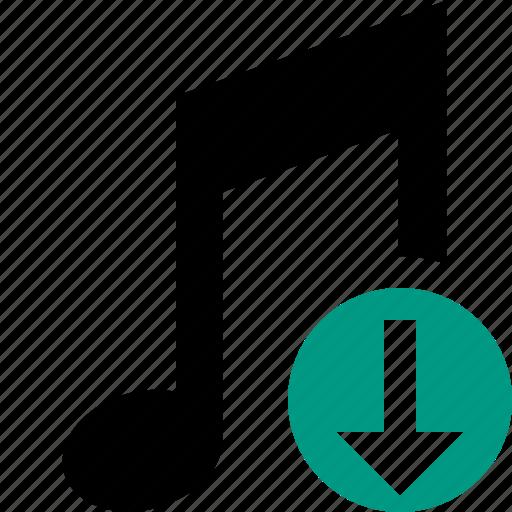 audio, download, multimedia, music, note, sound icon