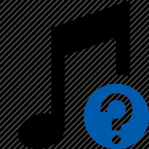 audio, help, multimedia, music, note, sound icon