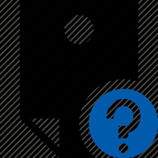document, help, memo, note, pin, reminder, sticker icon