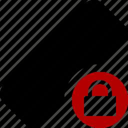 clean, delete, erase, eraser, lock, remove, rubber icon