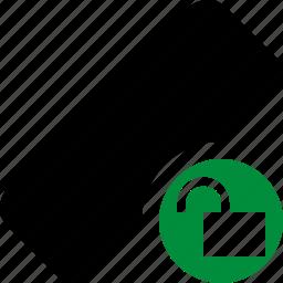 clean, delete, erase, eraser, remove, rubber, unlock icon