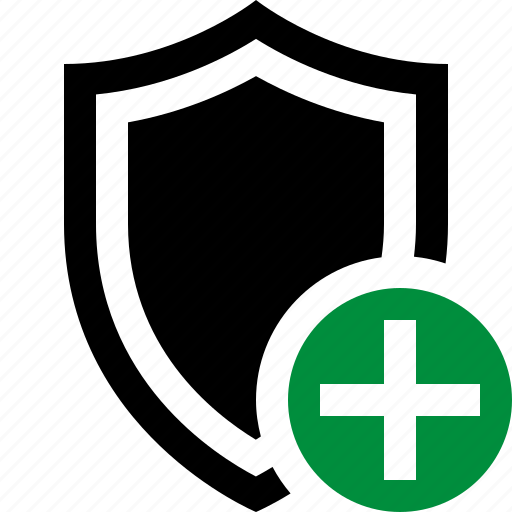 add, protection, safety, secure, security, shield icon