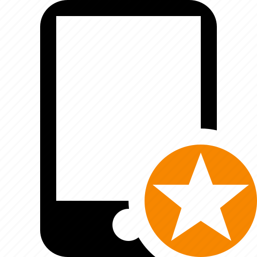 device, iphone, mobile, phone, smartphone, star icon