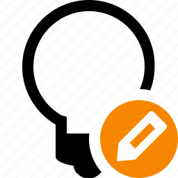 bulb, edit, idea, light, tip icon