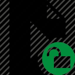 document, file, movie, play, unlock, video icon