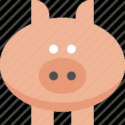 barn, farm, mud, oink, pig, piglet icon