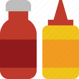 barbecue, bbq, condiments, grill, ketchup, mustard, sauce icon