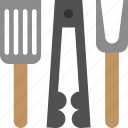 barbecue, bbq, fork, skewer, spatula, tongs, utensils icon