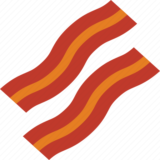 bacon, breakfast, crispy, fat, pig icon