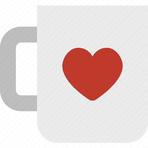 coffee, cup, heart, mug, tea icon