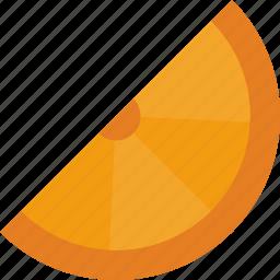 fruit, juice, orange, wedge icon