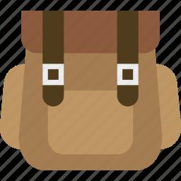 backpack, bag, hiking, napsack, pack, school icon