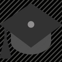 cap, college, education, graduate, graduation, learn, school icon