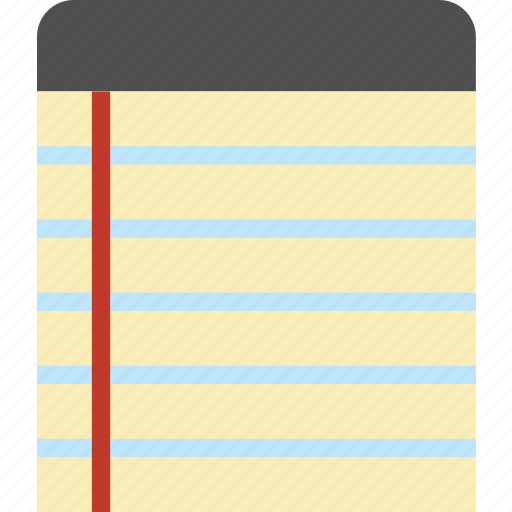 notebook, pad, paper, writing icon