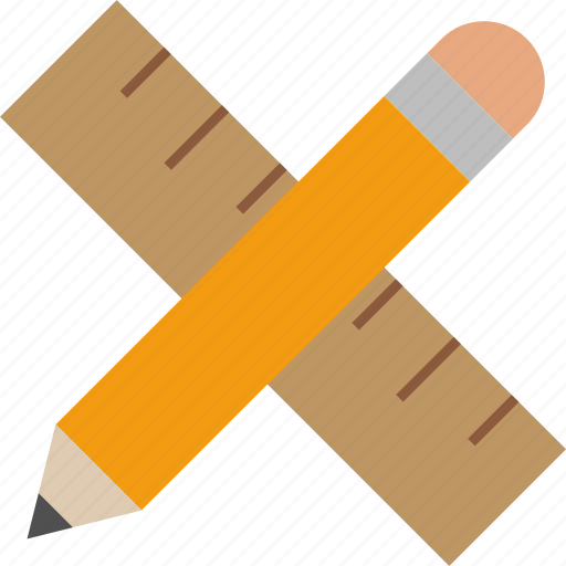 design, drafting, pencil, ruler icon