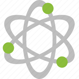 atom, physics, quantum, science icon