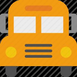 bus, school, school bus, vehicle icon