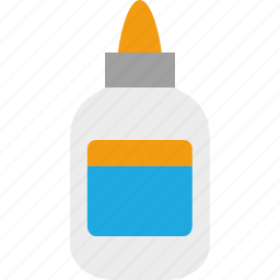 bottle, elmers, glue, paste, stick icon