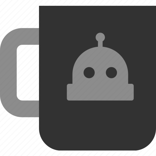coffee, cup, mug, robot, tea icon