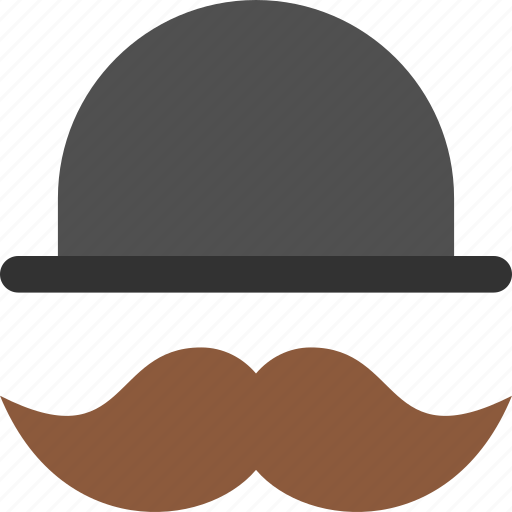 hat, hipster, mustache icon