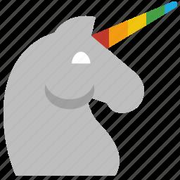 fairytale, horn, horse, magic, unicorn icon