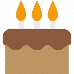 birthday, cake, candles, celebration, frosting, junk food, party icon