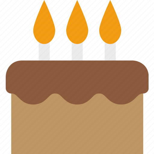 birthday, cake, candles, celebration, frosting, party icon