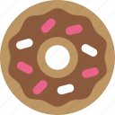 donut, frosting, junk food, sprinkles icon