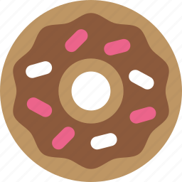 donut, frosting, junk food, sprinkles icon