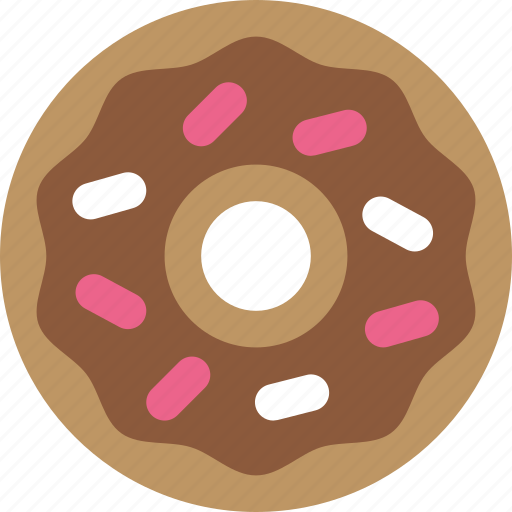 donut, frosting, sprinkles icon